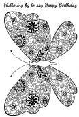 Woodware - Decorative Butterfly - Clear Magic Stamp Set - JGS557